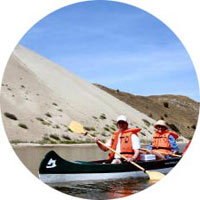 Canoeing along the Dead Dunes